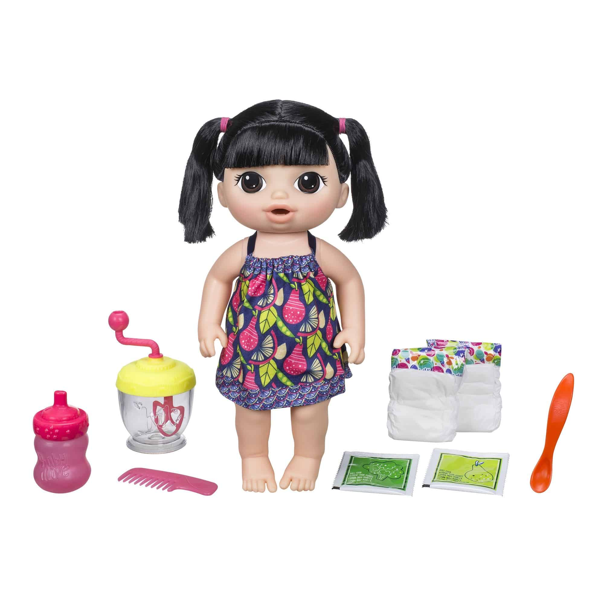 Baby Alive Sweet Spoonfuls Baby-Black Pigtails (Asian)